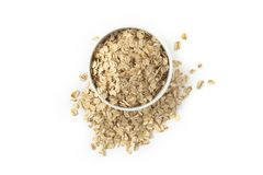 Oatmeal in the cup Stock Photography