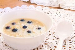 Oatmeal with currants Royalty Free Stock Image