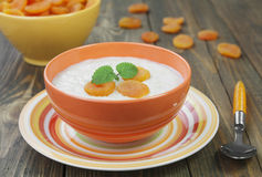 Oatmeal with dried apricots Stock Images