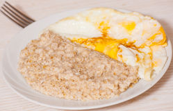 Oatmeal with egg Royalty Free Stock Photo