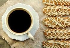 oatmeal för kaffekakacranberry arkivbild