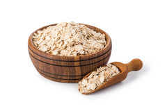 Oatmeal flakes Stock Images