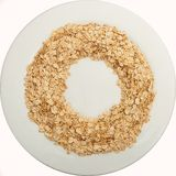 Oatmeal in the form of a wreath Royalty Free Stock Photos