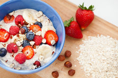 Oatmeal with fresh fruit Royalty Free Stock Photos