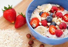 Oatmeal with fresh fruit Royalty Free Stock Image