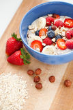 Oatmeal with fresh fruit Royalty Free Stock Photography