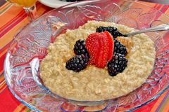Oatmeal with fruit Stock Image