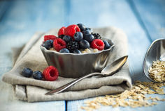 Oatmeal and Fruit Royalty Free Stock Photo