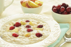 Oatmeal with fruit royalty free stock photography