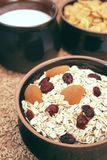 Oatmeal with fruits Stock Photo