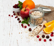 Oatmeal with fruits Royalty Free Stock Photo