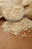 Oatmeal In Glass Bowl Stock Image