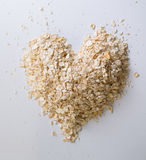 Oatmeal good for your heart concept Stock Photography