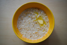 Oatmeal. Healthy breakfast for those who erzhit fit Royalty Free Stock Photography
