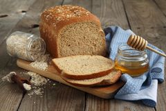 Oatmeal and honey bread Stock Image
