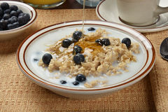 Oatmeal with honey Royalty Free Stock Photos