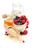 Oatmeal ingredients. Royalty Free Stock Photography