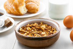 Oatmeal muesli for breakfast Royalty Free Stock Image