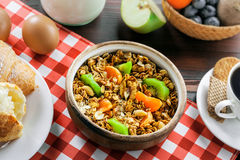 Oatmeal muesli for breakfast Stock Image