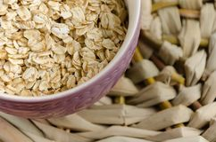 oatmeal Muesli, grains Beau fond Farine d'avoine crue guérissez photo libre de droits