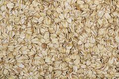 Oatmeal. Oat flakes for background use Stock Photography