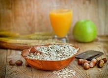 Oatmeal - oat flakes Stock Image