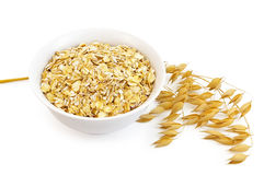 Oatmeal with oat stem Stock Photo