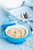 Oatmeal, oats porridge, healthy food Royalty Free Stock Photos