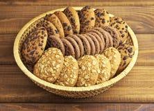 Oatmeal- och chokladkakor Royaltyfria Foton