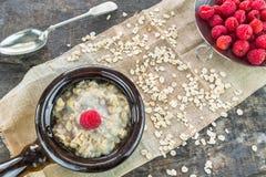 Oatmeal owsianka Zdjęcie Royalty Free
