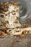 Oatmeal płatki z dokrętkami zdjęcie royalty free