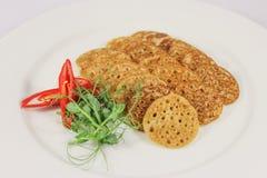 Oatmeal pancakes stock photo