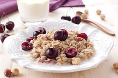 Oatmeal porridge Royalty Free Stock Images