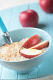 Oatmeal porridge with apple Stock Images