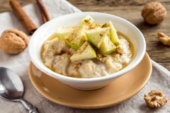 Oatmeal porridge with apples Royalty Free Stock Photo