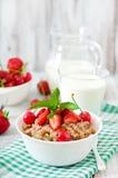 Oatmeal porridge with berries Stock Photos