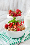 Oatmeal porridge with berries Royalty Free Stock Images