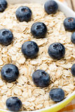 Oatmeal porridge with blueberries. healthy breakfast Royalty Free Stock Images