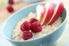 Oatmeal porridge with fruits Royalty Free Stock Photos