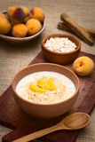 Oatmeal Porridge with Peach Royalty Free Stock Photography