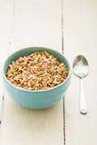 Oatmeal porridge on a table Royalty Free Stock Images