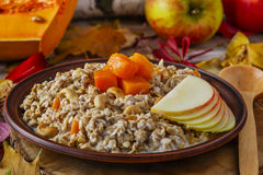 Oatmeal with pumpkin Stock Photo