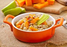 Oatmeal with pumpkin Royalty Free Stock Photo