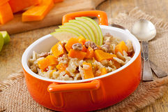Oatmeal with pumpkin Royalty Free Stock Photography