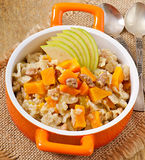 Oatmeal with pumpkin Royalty Free Stock Image