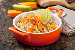 Oatmeal with pumpkin Stock Photos