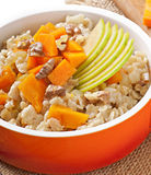 Oatmeal with pumpkin Royalty Free Stock Images