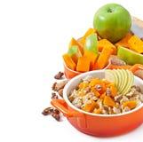 Oatmeal with pumpkin Stock Photo