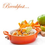 Oatmeal with pumpkin Stock Image