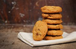 Free Oatmeal Raisin Cookie Isolated Royalty Free Stock Image - 105432116